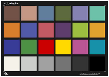 24 Colors Color Check Test Chart To Replace X Rite Color Checker 290*204mm Size